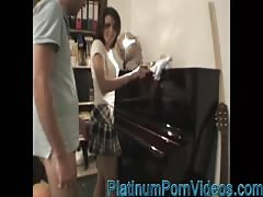 PlatinumPornVideos.com - Hot german amateur girlfriend in white stockings f Thumb