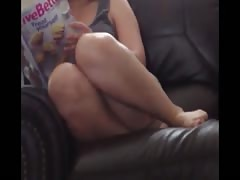 Curvy Step Sister Feet Legs Action Thumb