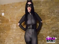 COSPLAY BABES Busty Catwoman fucked by Spiderman Thumb