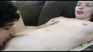 Glossy white girl-friend is getting your hands on his tongue in her tight muff Thumb