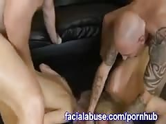 Two Bi Bitches Getting Dicked By Two Dudes Thumb