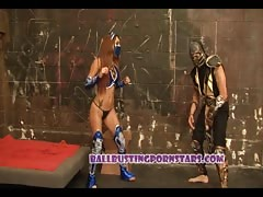 Mortal Kombat Cosplay Sex and Ballbusting with Crystal Lopez Thumb