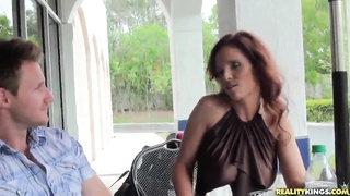 Largest redhead mom is getting your mitts on seduced and banged on digital camera Thumb