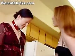 Mistress Slaps Her Slave Girl And Forces Her to Clean By Toungue Thumb