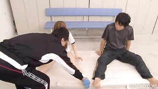 Sexy Chinese woman doing fairly largest movements in precisely the school locker apartment Thumb
