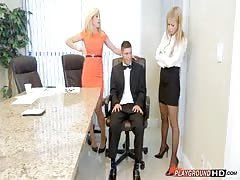 Fucking 2 Blondes In The Office Thumb