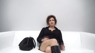 Sexy mature milf getting laid in her face at exactly the Czech Auditioning Thumb