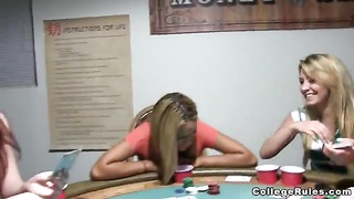 A game of cards with slutty blond school cuties Thumb