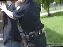 Black cop forces teen and amateur milf handjob compilation and white Thumb