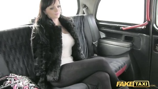 Big Titted brown haired being seduced and hooked-up in precisely the Faux Taxi Thumb