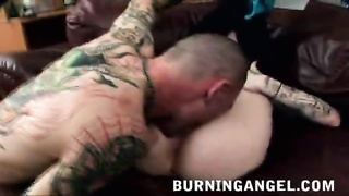 Hard-core face-fucking a by naughty emo dame Thumb