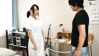 Young Japanese medical nurse female throats and jerks hard-ons Thumb
