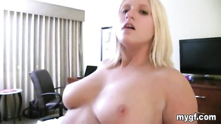 Curvaceous Big Woman blond gal is a great fucker with shaved cell phone Thumb