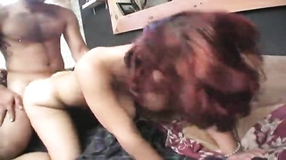 Young and reckless emo beauty rams with her bf on webcam Thumb