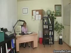 Mature office boss forces him fuck her hard Thumb