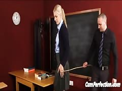 Schoolie Spanked, Facialed, Then Frigged Off Thumb