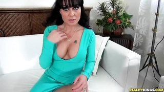 Impressive milf is slowly undressing and playing with her cage Thumb