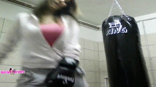Workout with fascinating dame with sporty body Thumb