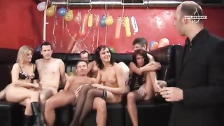 Insane unusual swing birthday party with young and aroused hotties Thumb