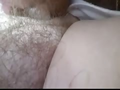 rubbing my cheak & kissing her soft hairy pussy Thumb