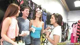 Ruthless young street walkers revealing their juggs in Money Talks movie Thumb