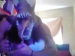 Sexy amature striptease with venom mask Tabbyanne cosplay Thumb