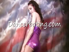 Dancing Dancerbating girl stimulates her snatch with a huge vibrator Thumb
