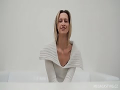 Small-tit Chezh casting babe takes off her white clothes Thumb
