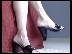 Spicy as fuck Annabelle Flowers is posing in the black high heels Thumb