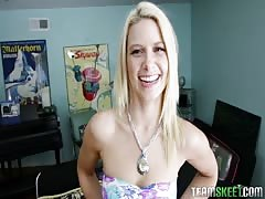 Bleached This Girl Sucks babe Anikka Albrite swallows a huge dick Thumb