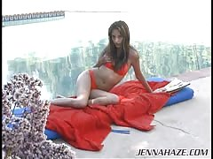 Young goddess Jenna Haze strokes her snatch by the pool Thumb
