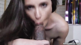 Man with a giant dark pipe loves a aggressive rough blowjob Thumb