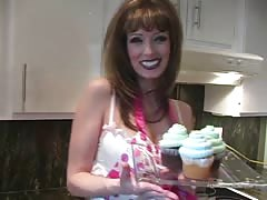 Skillful cock-loving milf goes topless in the kitchen Thumb