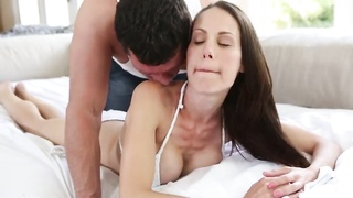 Black-haired female-domination is swallowing mouthwatering dick of a adorable guy Thumb