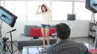 Beautiful action with a long-legged honey in precisely the flick by Auditioning Sofa X Thumb