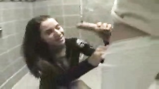 Instant public slurping from unknown teenager in restroom Thumb
