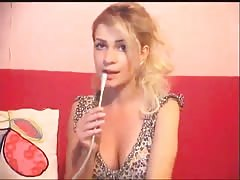 Glamorous Russian stripper undresses on the web cam Thumb