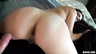 POV flick with aggressive female-domination showing off her mobile Thumb