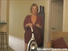 Amateur milf Annabelle Flowers is jerking off a hard wiener Thumb