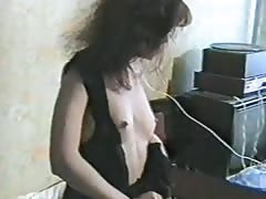 Skinny lustful Russian is cheating in the bedroom! Thumb