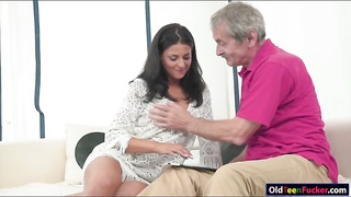 Coco De Mal sucks and licked by grandpa Thumb