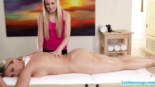 A horny afternoon lesbian sex action at the spa Thumb