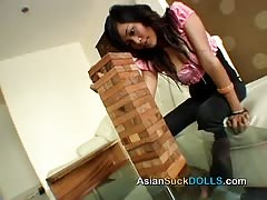 Bitchy and sexy Asian beauty is blowing a massive boner Thumb