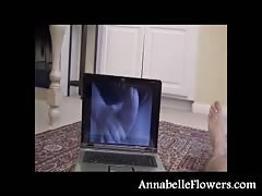 Fully clothed amateur milf Annabelle Flowers is jerking a boner Thumb