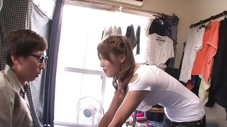 Fabulous Japanese prostitute Mei Aso in Incredible JAV uncensored Face-pounding flick Thumb