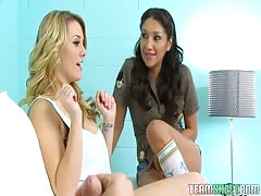 Hot This Girl Sucks bitches Vicki and Sierra are giving a double blowjob Thumb