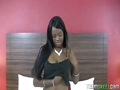 Big white wiener drills a Teeny Black babe Christie Sweet Thumb