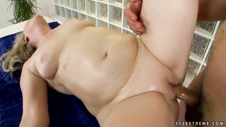 Naughty grandmother Gabi having fun with a young boners into her cell-phone Thumb