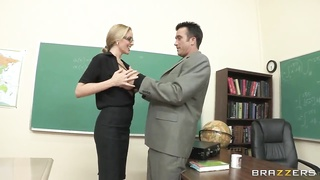 Teen remarkable sexy college student clamped by her handsome instructor Thumb