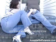 Alluring amateur milf Annabelle Flowers is jerking off a hard dick Thumb